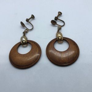VTG Wooden Earrings